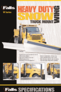Heavy Duty W Series Snow Wing Truck Mount