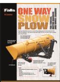 ONE WAY FX SNOW PLOW Spec Sheet Falls Plows