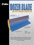 falls plows Dozer snow plow blade