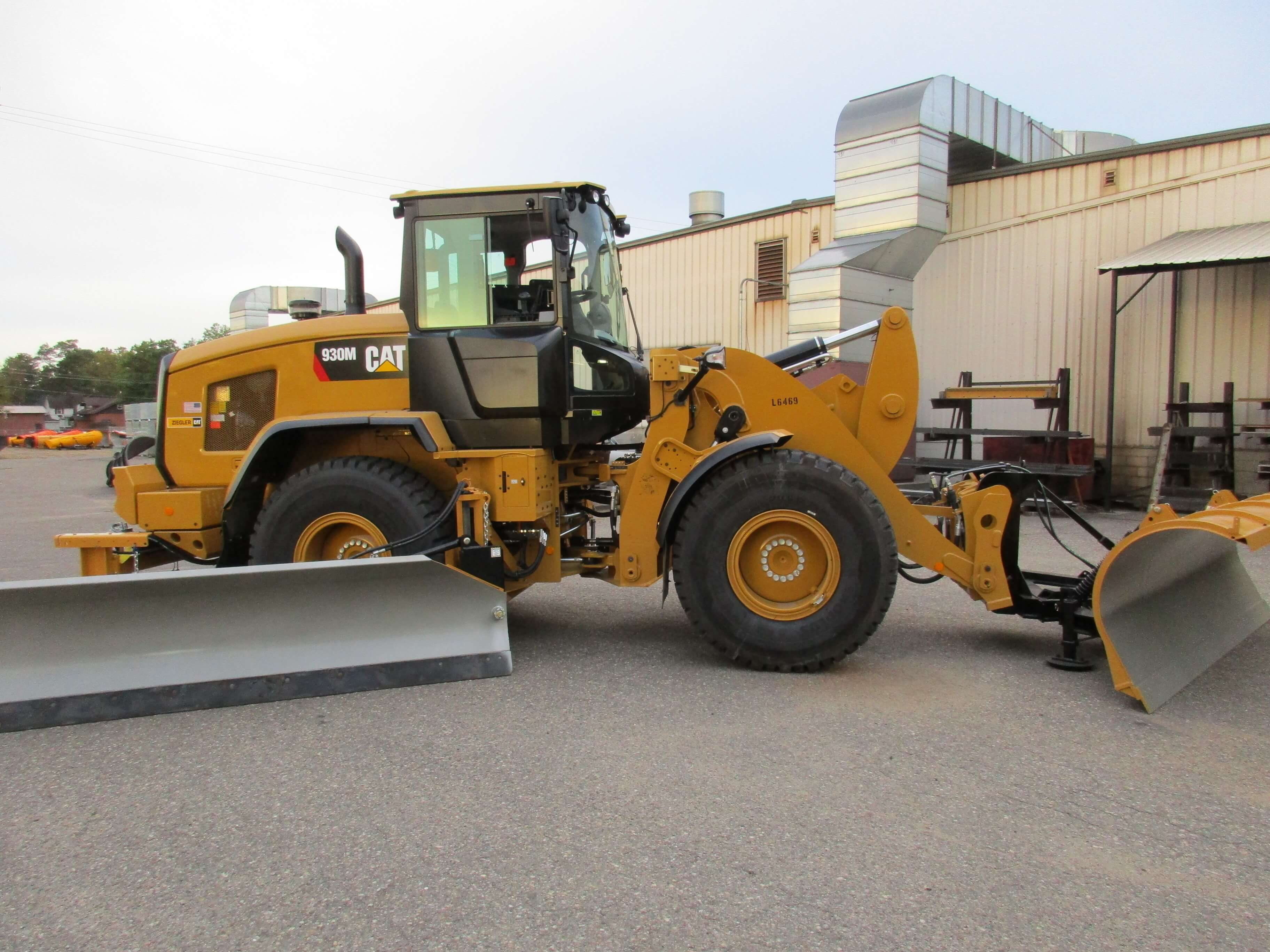 Cat Loader Mounted Snow Wing Cat Loader Snow Wing Cat