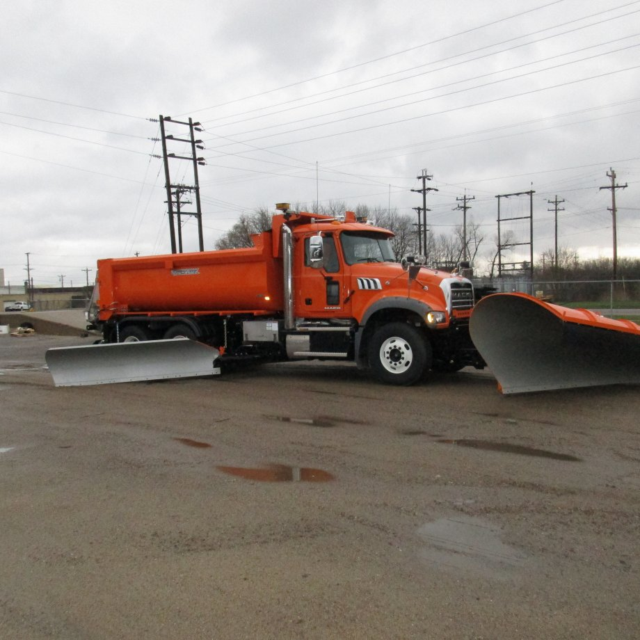front and side mounted plows